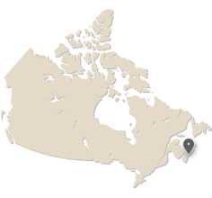 map of Canada showing Halifax