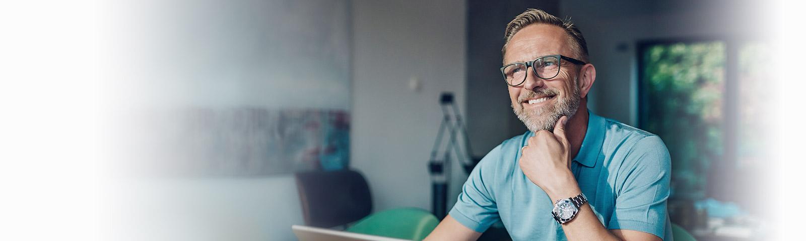 single entrepreneur working at home